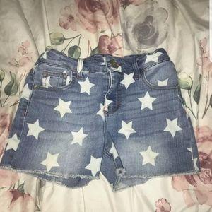girls cat & jack star shorts size large